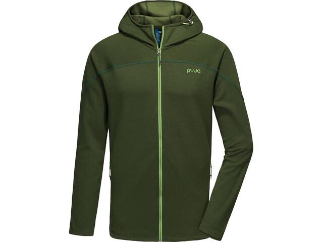 PYUA Crest-Y Veste à capuche zippée Homme, rifle green